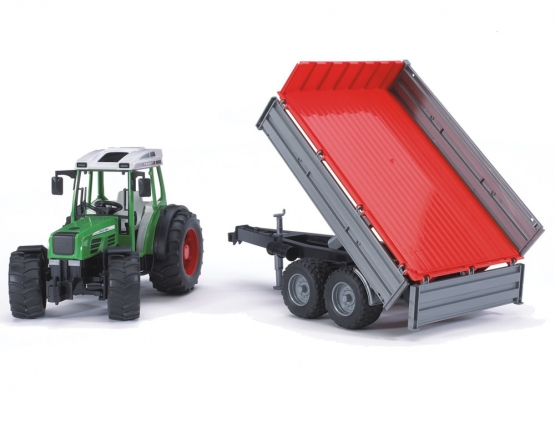 Bruder Fendt 209 S with tipping trailer