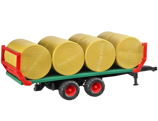 Bruder Bale transport trailer with 8 round bales