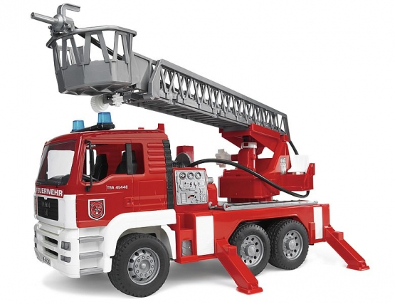 Bruder MAN Fire engine with selwing ladder