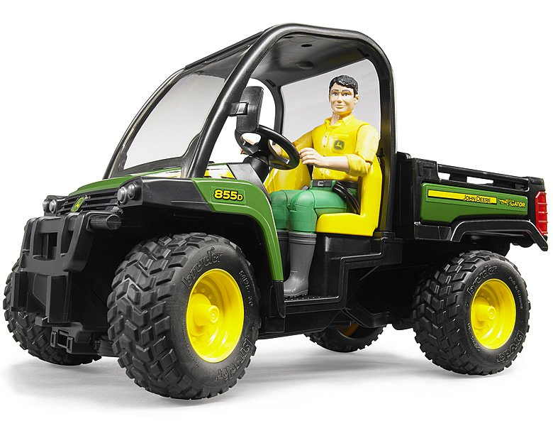 bruder john deere gator xuv 855d mit fahrer bei bruder. Black Bedroom Furniture Sets. Home Design Ideas