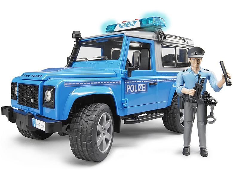bruder land rover defender polizeifahrzeug bei bruder. Black Bedroom Furniture Sets. Home Design Ideas