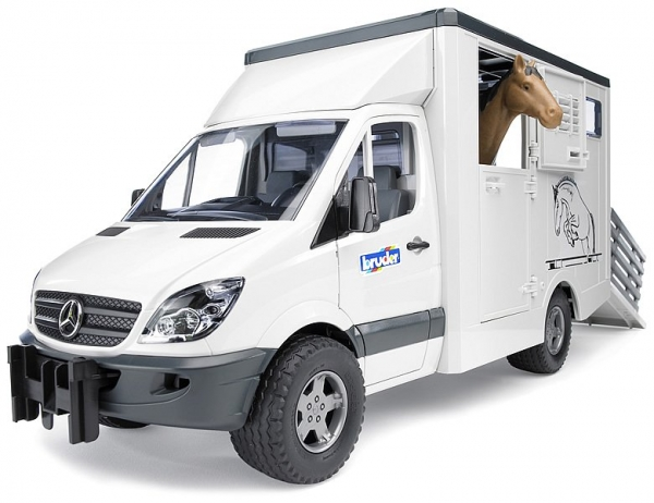 bruder mercedes benz sprinter animal transporter buy at. Black Bedroom Furniture Sets. Home Design Ideas
